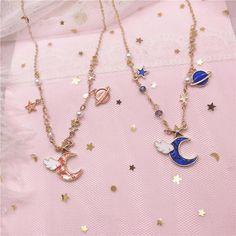 Initial Necklace/ Sideways Initial Necklace/ Monogram Necklace in Solid Gold/ Personalized Monogram Necklace/ Personalized Jewelry - Fine Jewelry Ideas Star Jewelry, Cute Jewelry, Bridal Jewelry, Photo Jewelry, Diy Jewelry, Moon Necklace, Star Necklace, Pendant Necklace, Kawaii Accessories