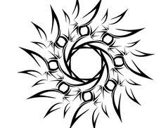 sun tattoos   tribal sun tattoos