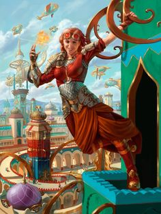 Chandra Pyrogenius - Kaladesh MtG Art