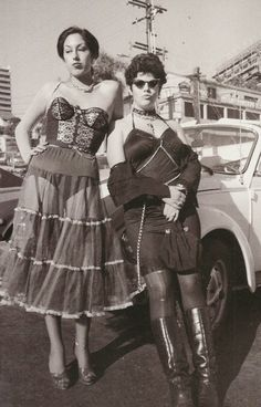 """superblackmarket: """" Alice Bag and Pleasant Gehman in the Tower Records parking lot photographed by Jenny Lens, 1977 """" Alice Bag, 70s Punk, We Will Rock You, Riot Grrrl, Tough Girl, New Romantics, Punk Fashion, Lolita Fashion, Fashion Boots"""