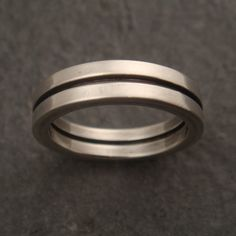 Men's Wedding Band Wedding Ring in by DownToTheWireDesigns on Etsy