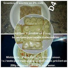 dag 4 28 Dae Dieet, Dieet Plan, 28 Days, Healthier You, Eating Plans, Food Photo, Healthy Eating, Healthy Food, Recipies