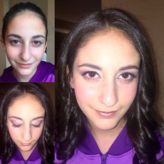 Before and after of special event teen makeup.