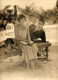 1920′s original print of Douglas Fairbanks and Mary Pickford at Pickfair