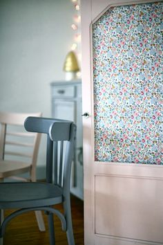 Betsy Liberty Fabric Backed Cabinet by Caroline Briel featured on hearthandmadeuk