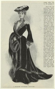 1902 A Winter Outdoor Costume. From New York Public Library Digital Collections.