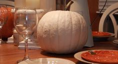 A large Ghost Pumpkin! My favourite pumpkin and so much harder to find. Part of my Thanksgiving Table Setting that I filmed for this video https://www.youtube.com/watch?v=zbw1-6irL4M