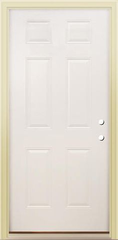 Emco 36 in x 80 in 100 series white self storing storm for Prehung exterior doors with storm door