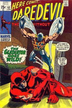 Portada de Daredevil de Gene Colan. Tenéis una reseña de algunos de sus números en la colección guionizados por Tony Isabella, Bob Brown y Stan Lee aquí mismo
