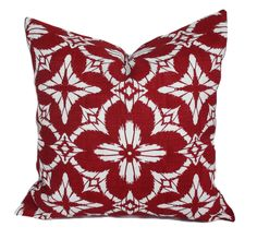 Outdoor Christmas pillow cover, 18x18, Outdoor holiday pillows, Outdoor throw pillow covers, Christmas decor, Red outdoor pillow, Cushion by PillowCorner on Etsy
