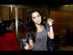 Shraddha Kapoor spotted at Mumbai airport.