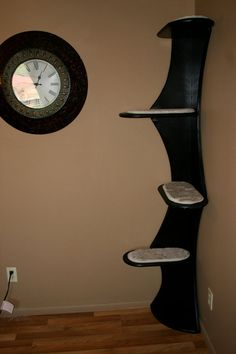 Skyline Cat Tower Painted Black by CatsUpHigh on Etsy, $165.00