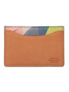 Collage Printed Credit Card Holder