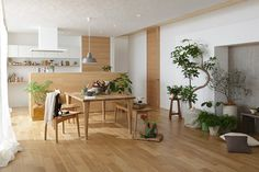 オークでのコーディネート Natural Modern Interior, Japanese Interior, Interior Decorating, Interior Design, Architect House, Simple House, Home Renovation, Kitchen Interior, Interior Architecture