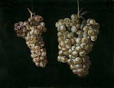 Bodegón con dos racimos de uvas. Francisco Zurbarán.