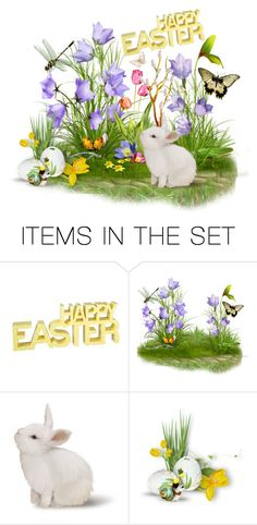 """""""Happy Easter to my Poly friends & family"""" by stephanielee4 ❤ liked on Polyvore featuring art, Easter, love, friends, polyvorecommunity and polyfamily"""