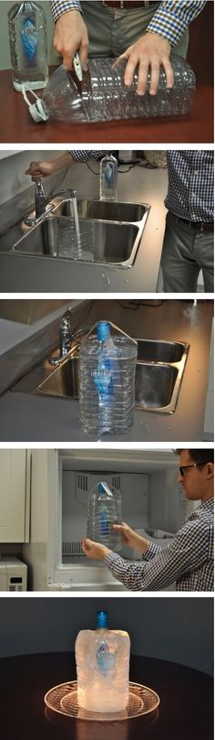 A great way to keep your alcohol frozen for parties.