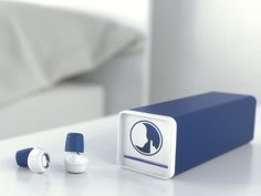 Wireless noise masking earplugs that block out the world while still letting you hear the things that matter most.