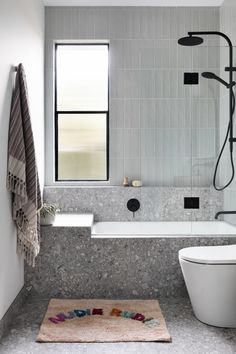 Badezimmer Stirling Terrazzo Look Grey Matt Tile Bracelets Through The Ages The earliest bracele Beautiful Bathrooms, Modern Bathroom, Small Bathroom, Master Bathroom, Bathroom Feature Wall Tile, Cement Bathroom, Grey Bathroom Tiles, Bathroom Plants, Boho Bathroom