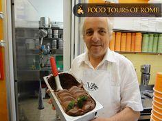 Chocolate gelato with basil Gelato, Basil, Rome, Sausage, Tours, Chocolate, Ice Cream, Sausages, Chocolates