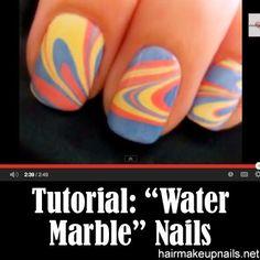Water Marble Nail Art ►► http://www.hairmakeupnails.net/water-marble-nail-art/?i=p