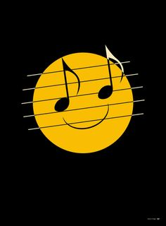Smiley face with note eyes Sound Of Music, Music Love, Music Is Life, My Music, Hippie Music, Music Happy, Hippie Gypsy, I'm Happy, Mundo Musical