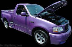 Ford Lightning Lavender Truck Information F150 Truck, Ford Trucks, Pickup Trucks, Svt Lightning, Ride The Lightning, Ford Lighting, Purple Cars, Ford Svt, Fords 150