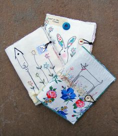 handmade fabric journal covers by hens teeth (flickr)