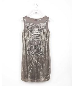 Gray Sequin Wave Dress by Lavand