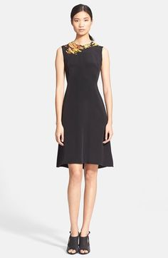 3.1 Phillip Lim Embroidered Silk Flared Dress available at #Nordstrom