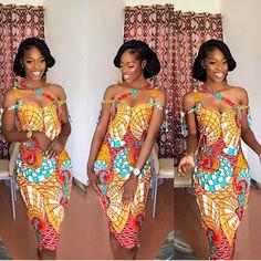 Lovely. @reggies_makeovers in @xesi_apparel. . #africansweetheartweddings #ankara #style