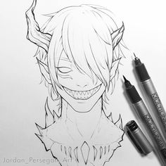 When you don't want to draw the other eye. 😂 I'm working on a Zalgo creepypasta video at the moment. Here's my anime style interpretation of the character 👹 Some more progress coming soon! Scary Drawings, Demon Drawings, Anime Drawings Sketches, Dark Art Drawings, Creature Drawings, Anime Sketch, Anime Character Drawing, Character Art, Pony Drawing