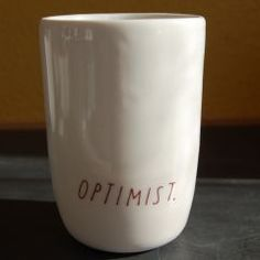 """Optimist tumbler. Love that it has """"half full"""" in the interior of the cup"""