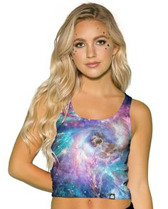 Iridescent Universe Women s Crop Top-front Cute Crop Tops bdb5d5a37