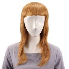 [US$69.59] Long Straight Full Bang Wig Human Hair Wigs Virgin Remy Mono Top Capless #long #straight #full #bang #human #hair #wigs #virgin #remy #mono #capless