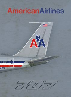 American Airlines 707, by Rick Aero www.Facebook.com/VintageAirliners www.VintageAirliners.com #aviationcraft