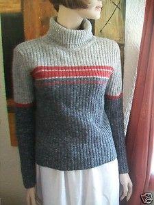 hübscher neuw. Winterpullover Pullover Ski Outdoor Norweger Wollpullover S 36/38