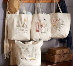 City & State Tote Bags #potterybarn #London #texas #newyorkcity #sydney