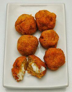 Pumpkin & Mozzarella Croquettes ... cheesy appetizer bites