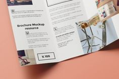 A modern and subtle psd trifold mock-up template with the inner view to display your next brochure project. Use the smart...