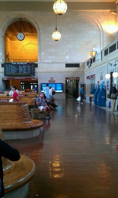 Union Station in New Haven, CT.  -I'm so glad they renovated this area and brought it back to life.