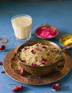 Thandai Masala Powder Recipe A very healthy and refreshing powder mix to make Instant Thandai -it is made with almonds,Pistachio, fennel,pepper and few other ingredients which are refreshing and cooling in nature.Thandai is a must have drink on Holi Festival !