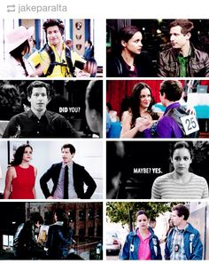 Amy Santiago and Jake Peralta, I shipped them from the beginning