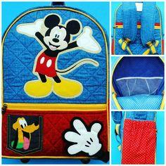Volta as aulas com a mochila mais divertida do Mickey é no Ateliê Sianinha.