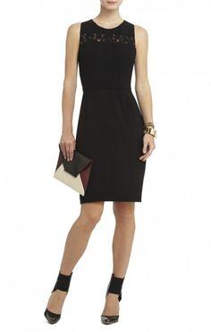 $175.00 BCBG VIOLETTE CAGED-BACK SHEATH DRESS