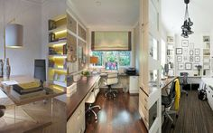 Cómo decorar tu zona de trabajo o despacho. www.comocombinar.com Corner Desk, Furniture, Home Decor, Corner Table, Decoration Home, Room Decor, Home Furnishings, Home Interior Design, Home Decoration