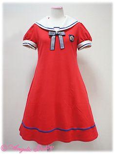 AP's Vintage Emblem Sailor Cut dress (red)