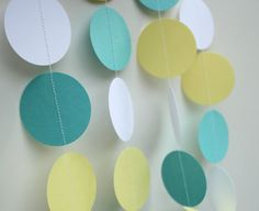 Paper Garland. Baby Boy Shower by TeroDesigns.  Pretty