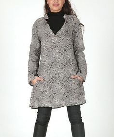 Black & Gray Square Tunic by Aller Simplement