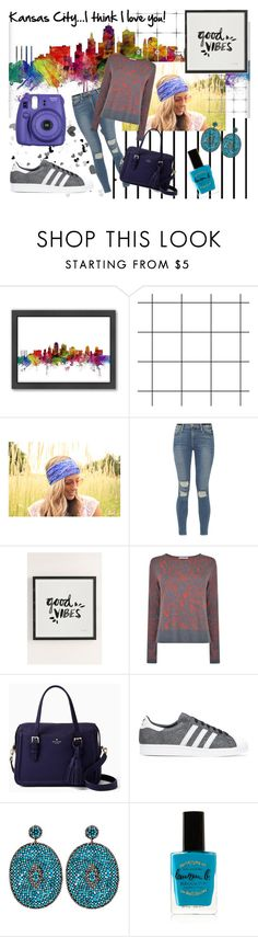"""KaNsAs CiTy"" by north40designs ❤ liked on Polyvore featuring Forum, Americanflat, Frame, Urban Outfitters, BOSS Black, Kate Spade, adidas Originals, Nush, Lauren B. Beauty and Fujifilm"